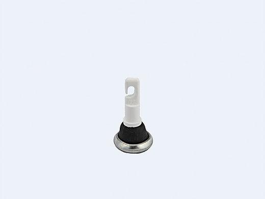 Capăt baston alb, MT 4070, conic, metalic