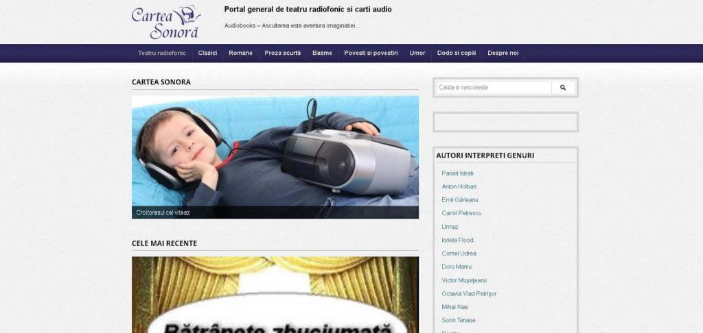 Cărţi audio pe carteasonora.ro